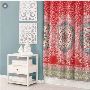 Jessica Simpson Coral Medallion Shower Curtain Set